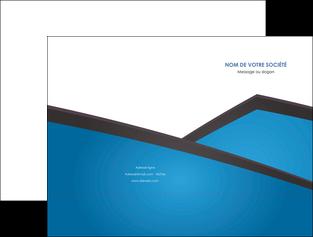 personnaliser modele de pochette a rabat bleu fond bleu couleurs froides MLIG57860