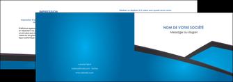 personnaliser maquette depliant 2 volets  4 pages  bleu fond bleu couleurs froides MIF57862