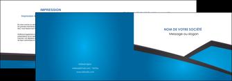 creation graphique en ligne depliant 2 volets  4 pages  bleu fond bleu couleurs froides MIF57864