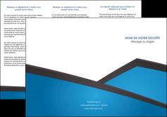 personnaliser maquette depliant 3 volets  6 pages  bleu fond bleu couleurs froides MIF57872
