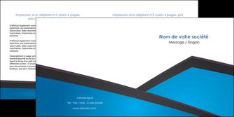 maquette en ligne a personnaliser depliant 2 volets  4 pages  bleu fond bleu couleurs froides MIF57876