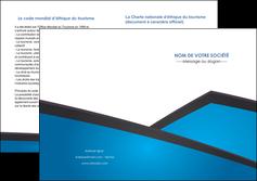 cree depliant 2 volets  4 pages  bleu fond bleu couleurs froides MIF57886