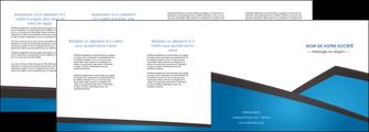 imprimerie depliant 4 volets  8 pages  bleu fond bleu couleurs froides MIF57890