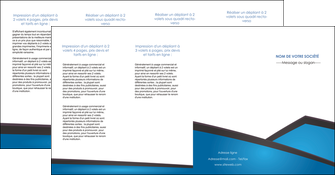 faire depliant 4 volets  8 pages  bleu fond bleu couleurs froides MIF57894