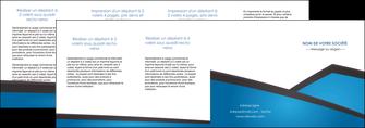 imprimerie depliant 4 volets  8 pages  bleu fond bleu couleurs froides MIF57896