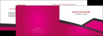 maquette en ligne a personnaliser depliant 2 volets  4 pages  fuchsia gris fond fuchsia MIF57914