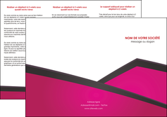 impression depliant 3 volets  6 pages  fuchsia gris fond fuchsia MIF57924