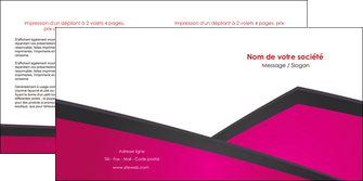 exemple depliant 2 volets  4 pages  fuchsia gris fond fuchsia MLIGBE57928