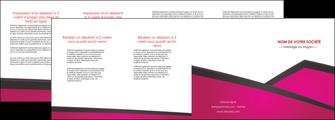 maquette en ligne a personnaliser depliant 4 volets  8 pages  fuchsia gris fond fuchsia MIF57942