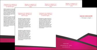 personnaliser maquette depliant 4 volets  8 pages  fuchsia gris fond fuchsia MIF57946