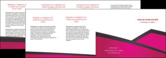 imprimer depliant 4 volets  8 pages  fuchsia gris fond fuchsia MIF57948