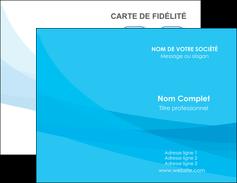 faire carte de visite web design bleu bleu pastel couleurs froides MIF57960