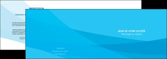 faire depliant 2 volets  4 pages  web design bleu bleu pastel couleurs froides MLGI57968