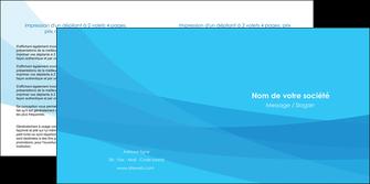 imprimer depliant 2 volets  4 pages  web design bleu bleu pastel couleurs froides MIF57980