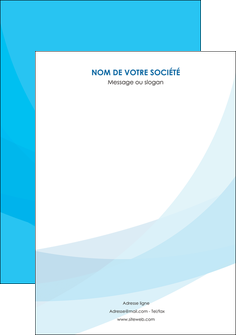 exemple affiche web design bleu bleu pastel couleurs froides MIF57992