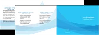 imprimer depliant 4 volets  8 pages  web design bleu bleu pastel couleurs froides MIF57994