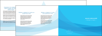 imprimer depliant 4 volets  8 pages  web design bleu bleu pastel couleurs froides MLIG57994