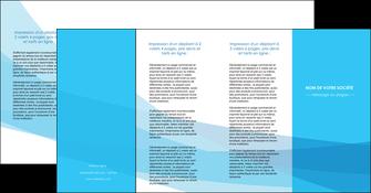 exemple depliant 4 volets  8 pages  web design bleu bleu pastel couleurs froides MIF57998
