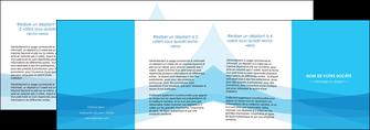 imprimer depliant 4 volets  8 pages  web design bleu bleu pastel couleurs froides MIF58000