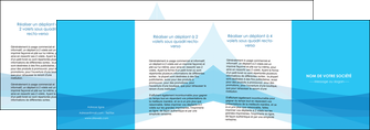 imprimer depliant 4 volets  8 pages  web design bleu bleu pastel couleurs froides MLIG58000