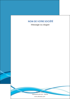 impression flyers bleu couleurs froides fond bleu MIF58118