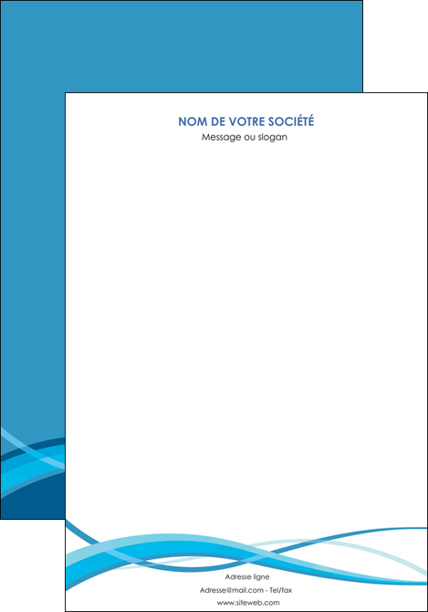 maquette en ligne a personnaliser affiche bleu couleurs froides fond bleu MLGI58120