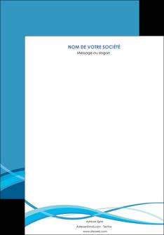 maquette en ligne a personnaliser affiche bleu couleurs froides fond bleu MIF58120