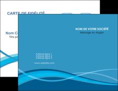 creation graphique en ligne carte de visite bleu couleurs froides fond bleu MIF58124