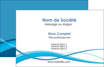 Realiser Carte De Visite Bleu Couleurs Froides Fond MLGI58126