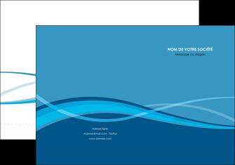 modele en ligne pochette a rabat bleu couleurs froides fond bleu MIF58130