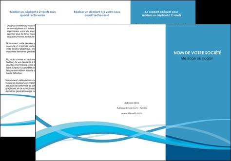 modele depliant 3 volets  6 pages  bleu couleurs froides fond bleu MLGI58142