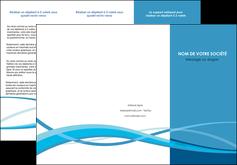 modele depliant 3 volets  6 pages  bleu couleurs froides fond bleu MIF58142