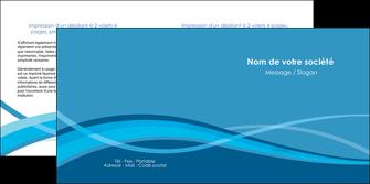 cree depliant 2 volets  4 pages  bleu couleurs froides fond bleu MIF58146