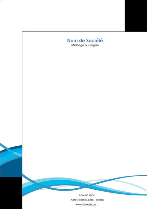 imprimer tete de lettre bleu couleurs froides fond bleu MLGI58148