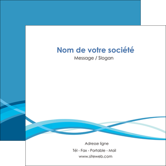 creation graphique en ligne flyers bleu couleurs froides fond bleu MIF58150