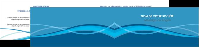 impression depliant 2 volets  4 pages  bleu couleurs froides fond bleu MLGI58152