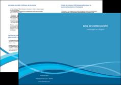 creation graphique en ligne depliant 2 volets  4 pages  bleu couleurs froides fond bleu MIF58156