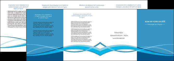maquette en ligne a personnaliser depliant 4 volets  8 pages  bleu couleurs froides fond bleu MLGI58158