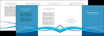 maquette en ligne a personnaliser depliant 4 volets  8 pages  bleu couleurs froides fond bleu MIF58158