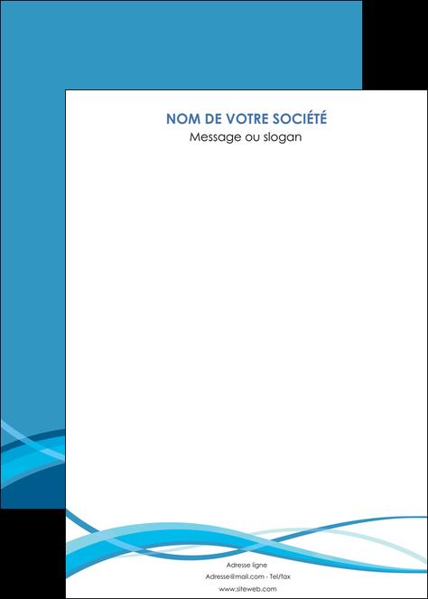 modele en ligne affiche bleu couleurs froides fond bleu MLGI58160