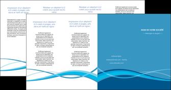exemple depliant 4 volets  8 pages  bleu couleurs froides fond bleu MIF58162