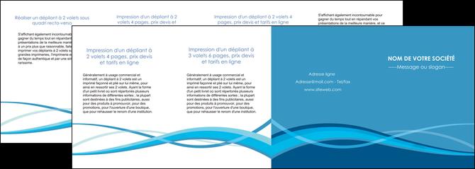 modele depliant 4 volets  8 pages  bleu couleurs froides fond bleu MLGI58164