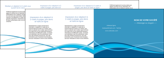 modele depliant 4 volets  8 pages  bleu couleurs froides fond bleu MIF58164