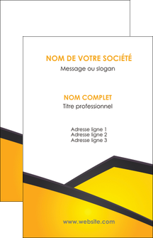 personnaliser modele de carte de visite jaune fond jaune colore MIF58290