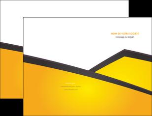 cree pochette a rabat jaune fond jaune colore MIF58292