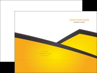 exemple pochette a rabat jaune fond jaune colore MLGI58294