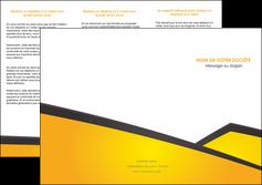 personnaliser maquette depliant 3 volets  6 pages  jaune fond jaune colore MLGI58306