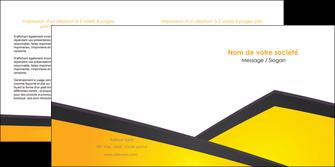 personnaliser maquette depliant 2 volets  4 pages  jaune fond jaune colore MLGI58310