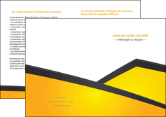 faire modele a imprimer depliant 2 volets  4 pages  jaune fond jaune colore MLIG58320