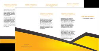 cree depliant 4 volets  8 pages  jaune fond jaune colore MIF58328